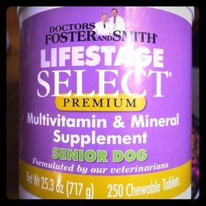 Drs. Foster & Smith Dog Senior Multi-Vitamin